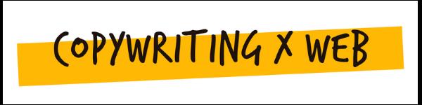 Copywriting x web logo